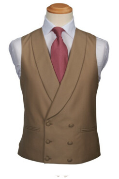 Buff Double Breasted Waistcoat (Rental Package Only not for sale)