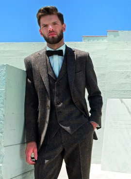 Brown Tweed Run 3 Piece Suit by Torre