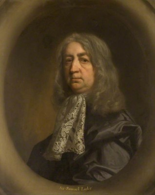Sir Samuel Luke, Parliament's Scoutmaster General (c) Moot Hall Museum, Elstow; Supplied by The Public Catalogue Foundation
