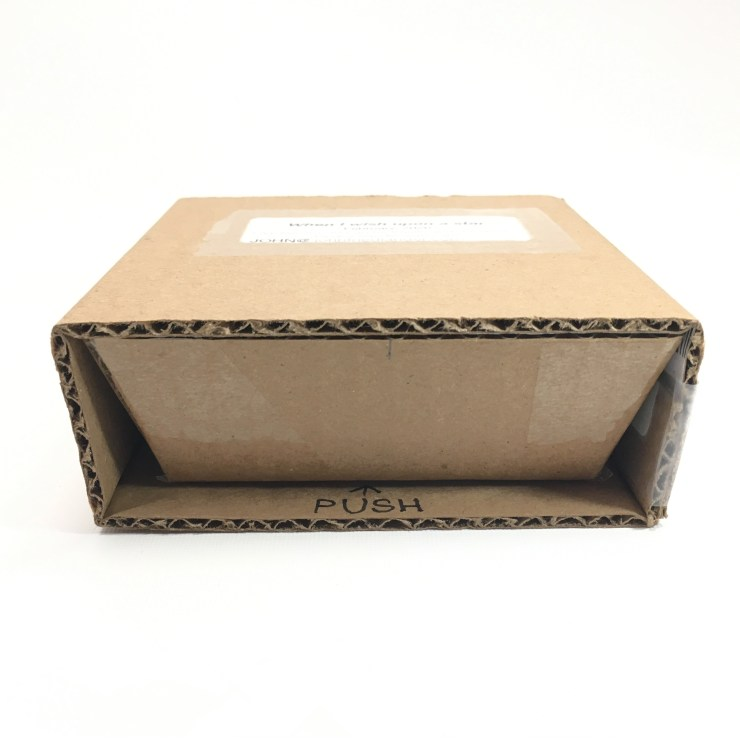 A small handmade cardboard box