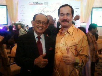 With former president of the Philippines General Fidel Ramos.