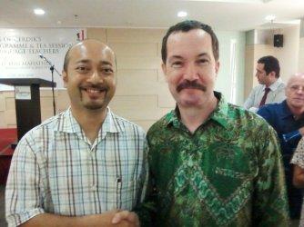 With Mukhriz Mahatir, son of the former Prime Minister of Malaysia and former Mentari Besar of Kedah.