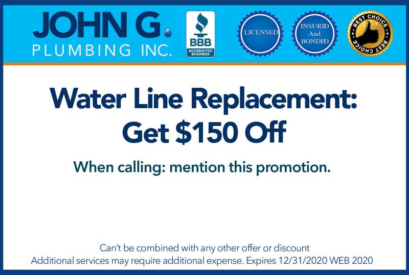 Water Line Replacement: Get $150 Off