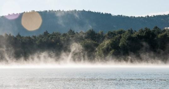 Morning mist on Indian Lake
