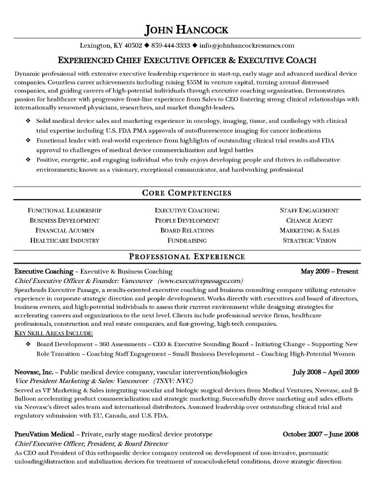 resume writing samples