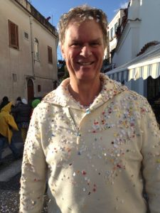 Carnival is in Italy now as my confetti shower proves.