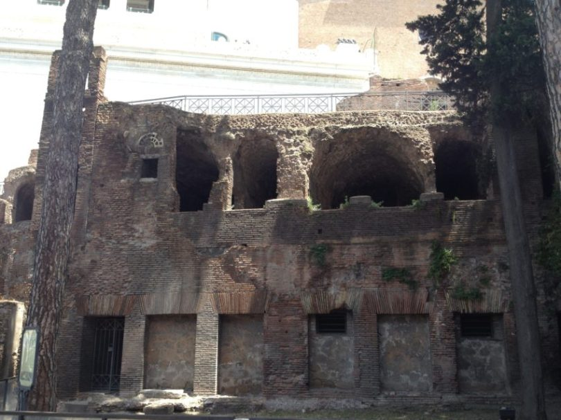 This building is an example of squalid conditions the massive poor population lived in during Ancient Rome.