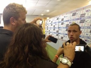 Roma hero Nainggolan after the game.
