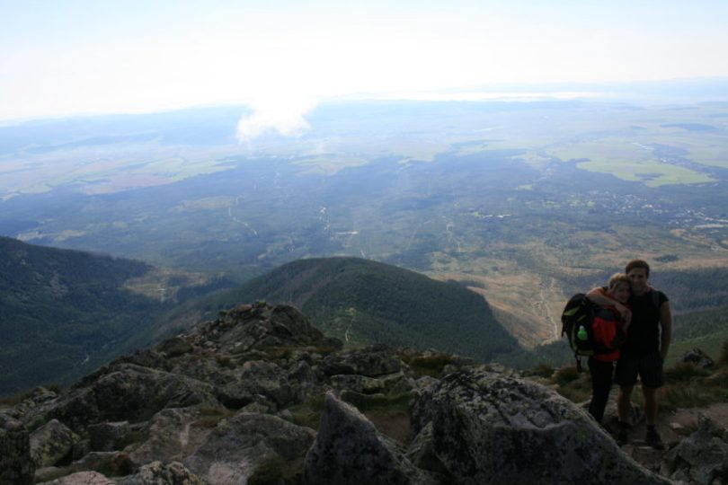 Igor and Barra high atop Lomnicky stit.