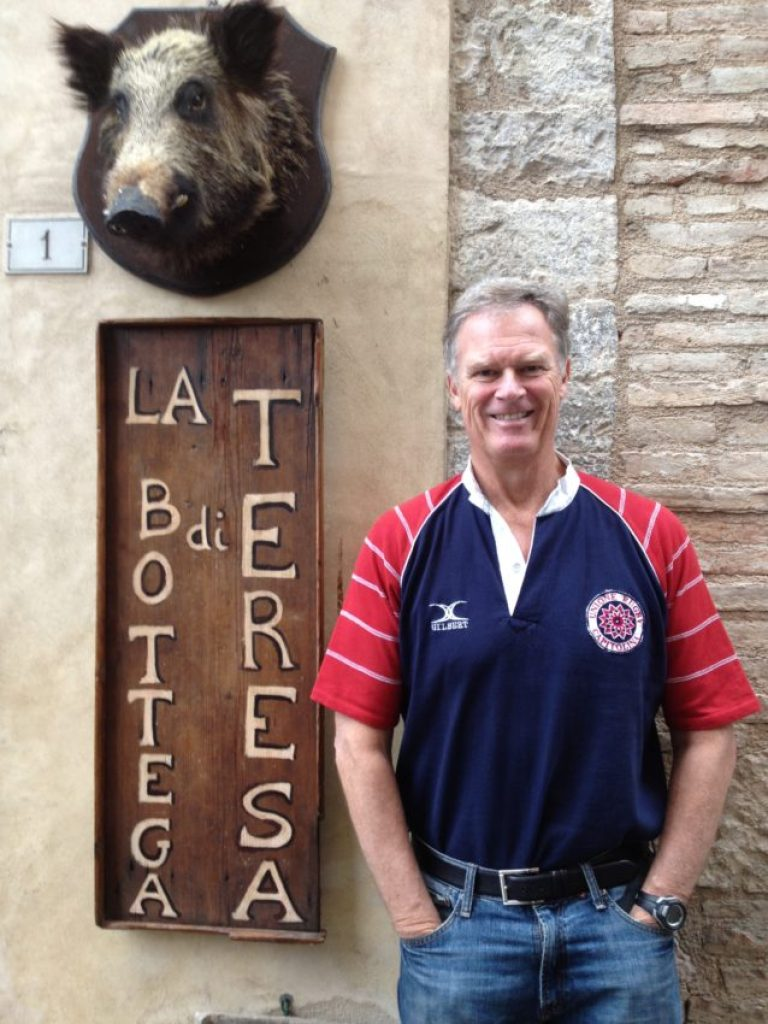 Me at the end of really porking out in Umbria.