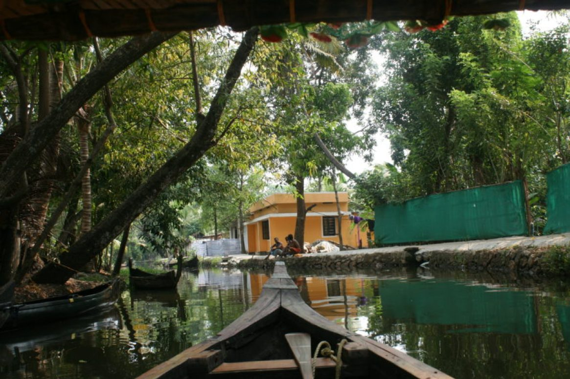 For centuries Kerala's Backwaters were used for transportation and are still used by most of the area's 10,000 residents.