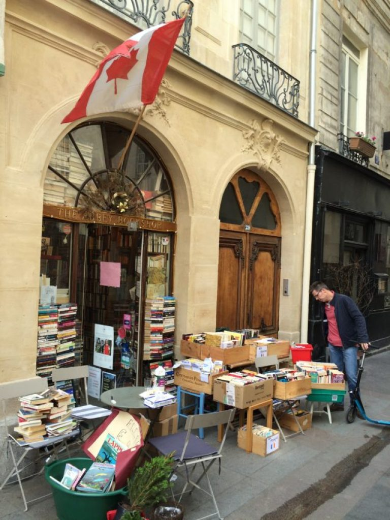 Abbey Bookstore has been selling English-language books on this side street for 25 years.