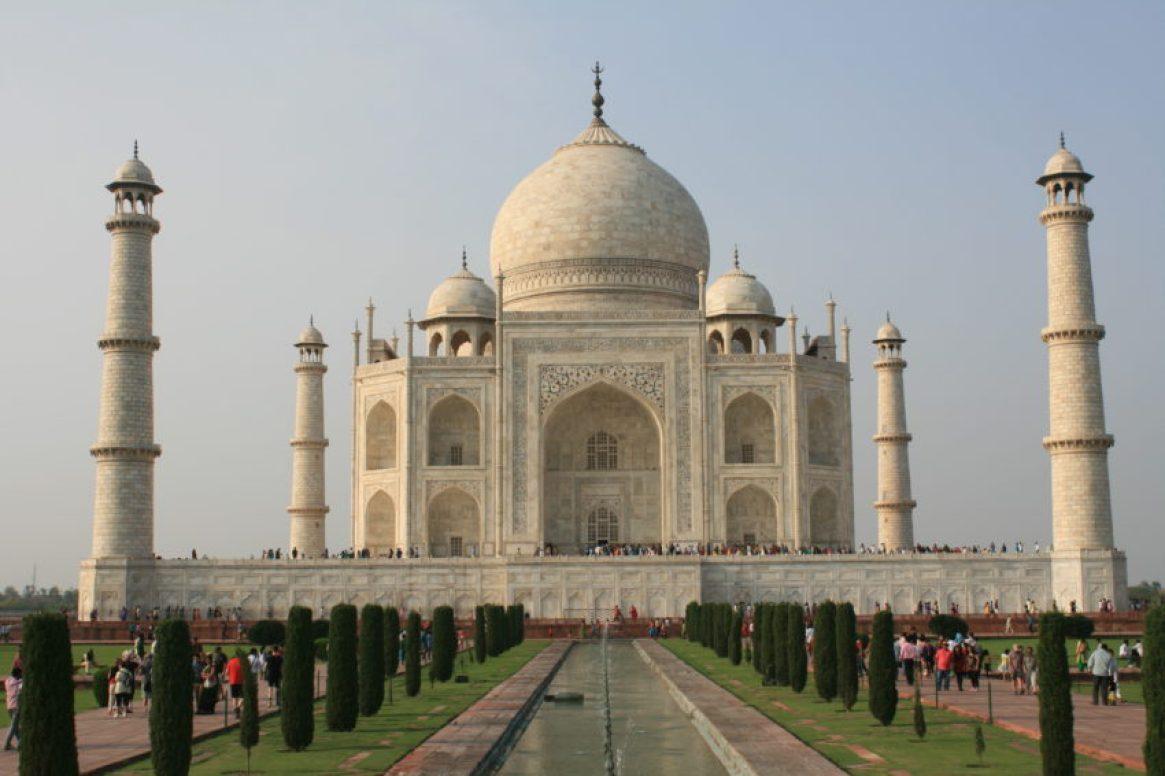 The Taj Mahal is 55 meters by 55 meters, just as high as it is wide.