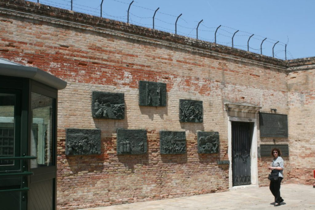 This barbed wire is a reminder of the thousand of Jews pulled from Venice's ghetto for concentration camps.