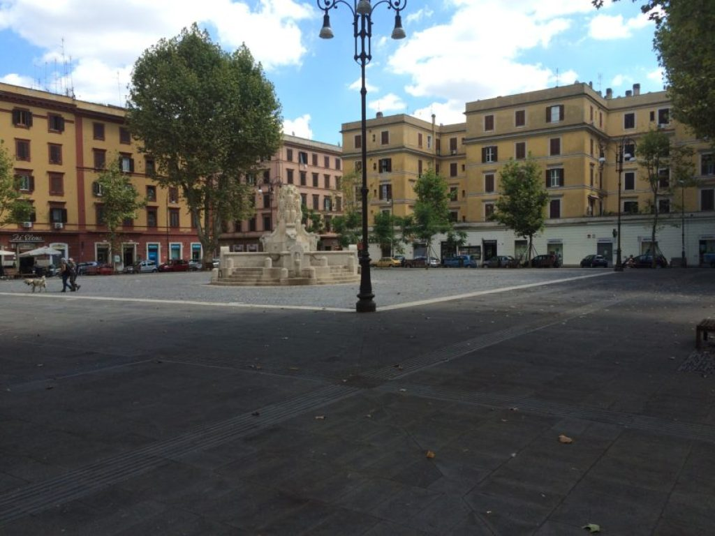 Piazza Testaccio is usually buzzing with people and activity.