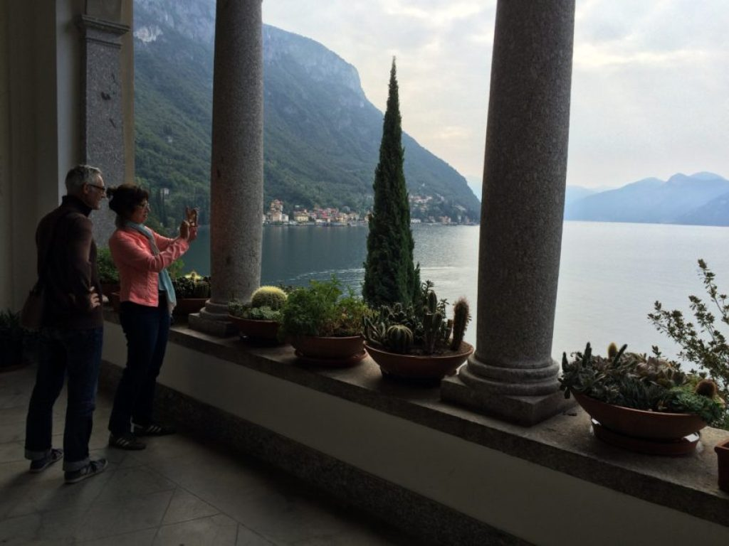 One of the many great views from outside Villa Monastero on Varenna.