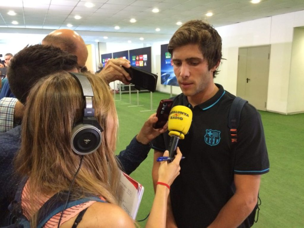 Defender Sergi Roberto was the only player who talked for Barcelona after the game.