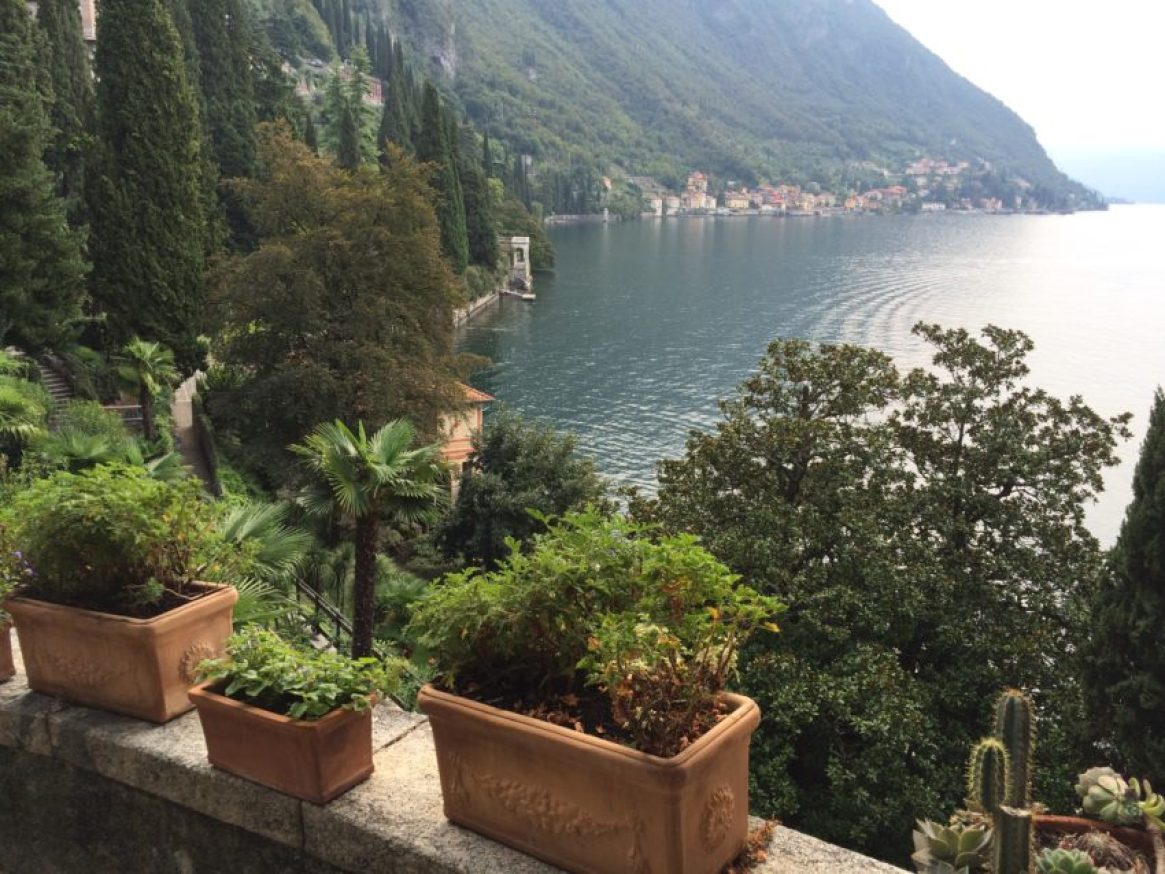 Lake Como, from a villa in Varenna, is dotted with 18 villages and connected by a convenient ferry system.