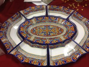 A seven-course serving tray.