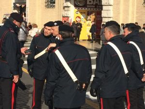 The Carabinieri didn't have a whole lot to do.