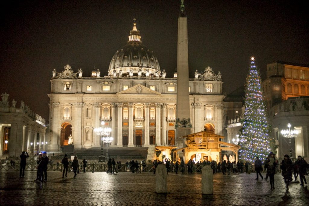 Christmas has special meaning in the center of Christendom, but even St. Peter's Square is understated. Photo by Marina Pascucci