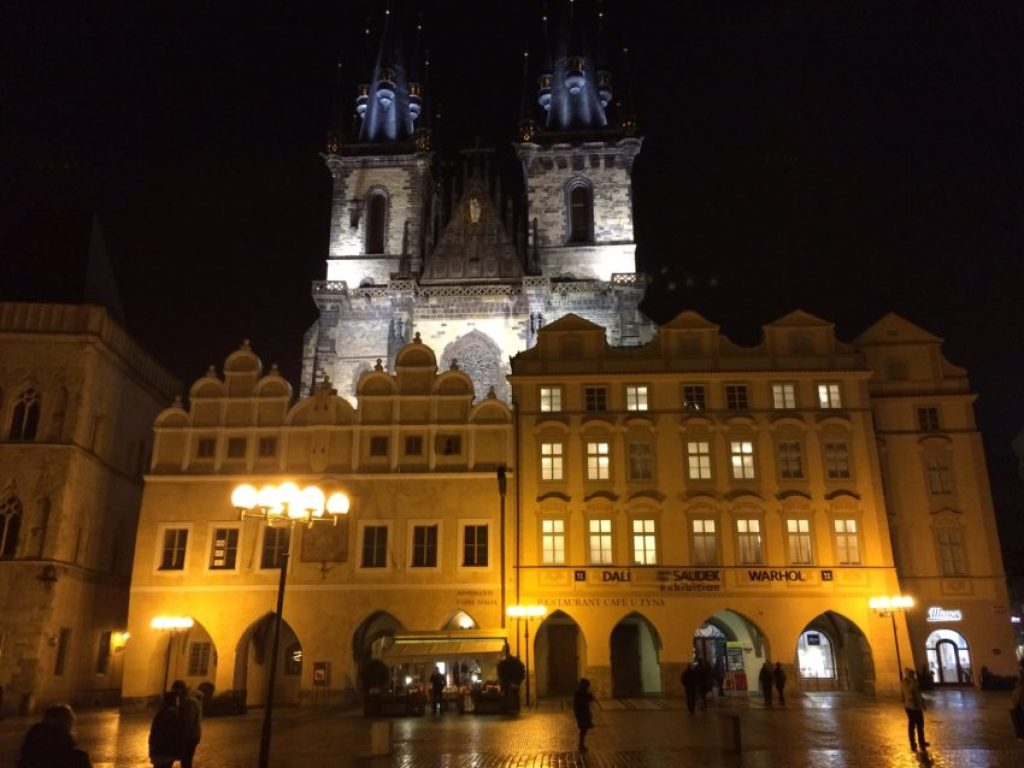St. Nicholas Church in Old Town Square, Prague's main square since the 10th century.