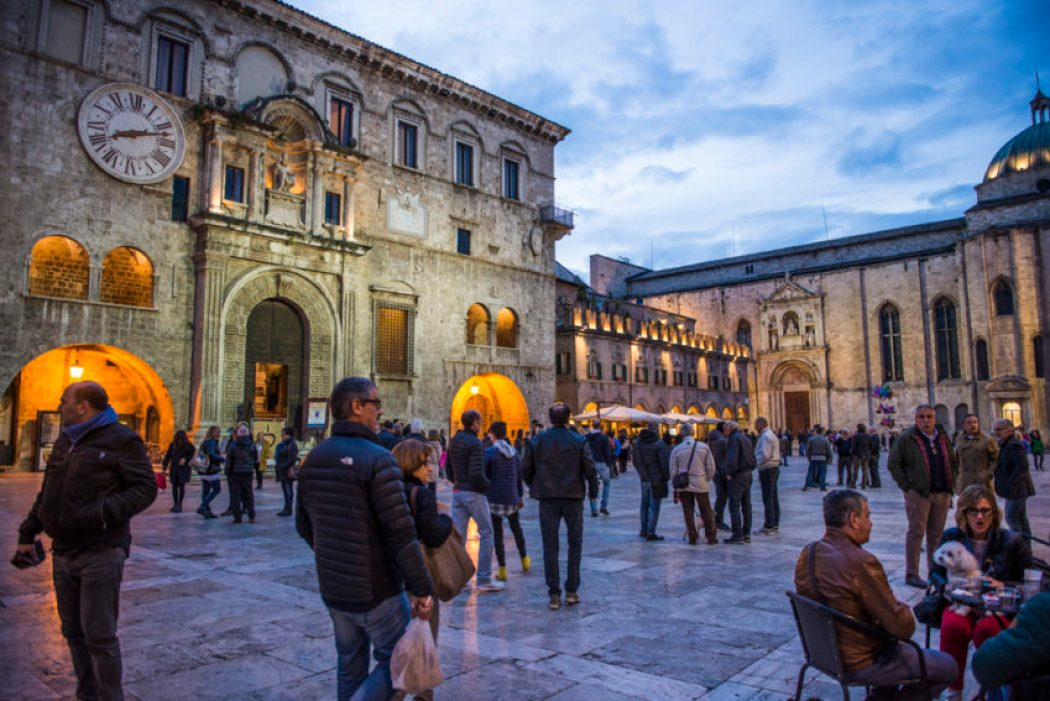 Piazza del Popolo has been Ascoli Piceno's main square since the time of Ancient Rome. Photo by Marina Pascucci.