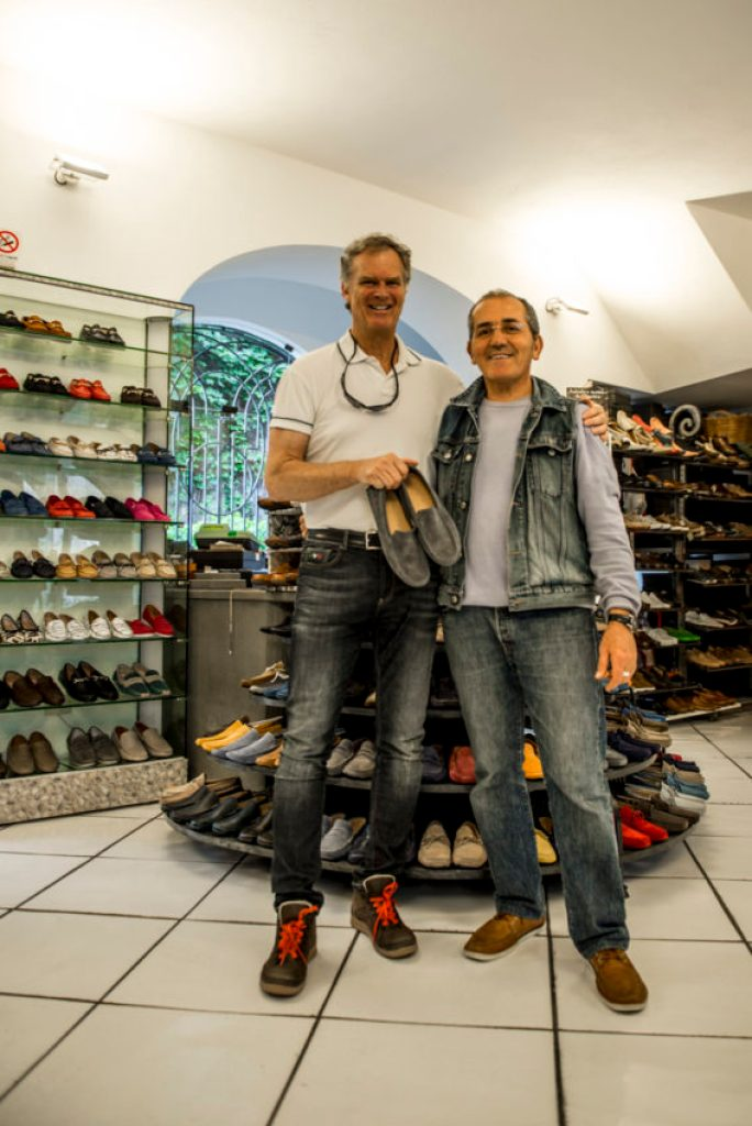 Me and owner Maurizio Criscuolo in his famous shop, Tre Denari. Photo by Marina Pascucci