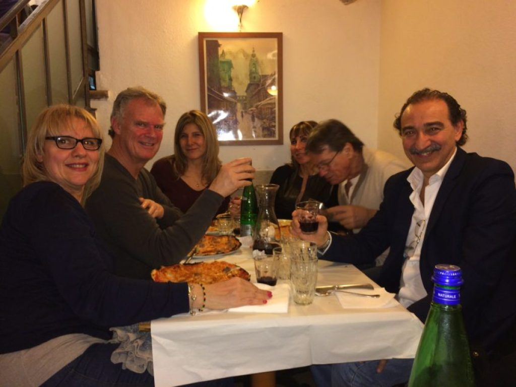Me and my Roman friends at Pizzeria Remo.