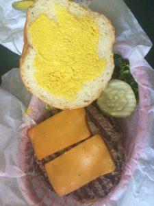 Cherry Cricket's bison cheeseburger.