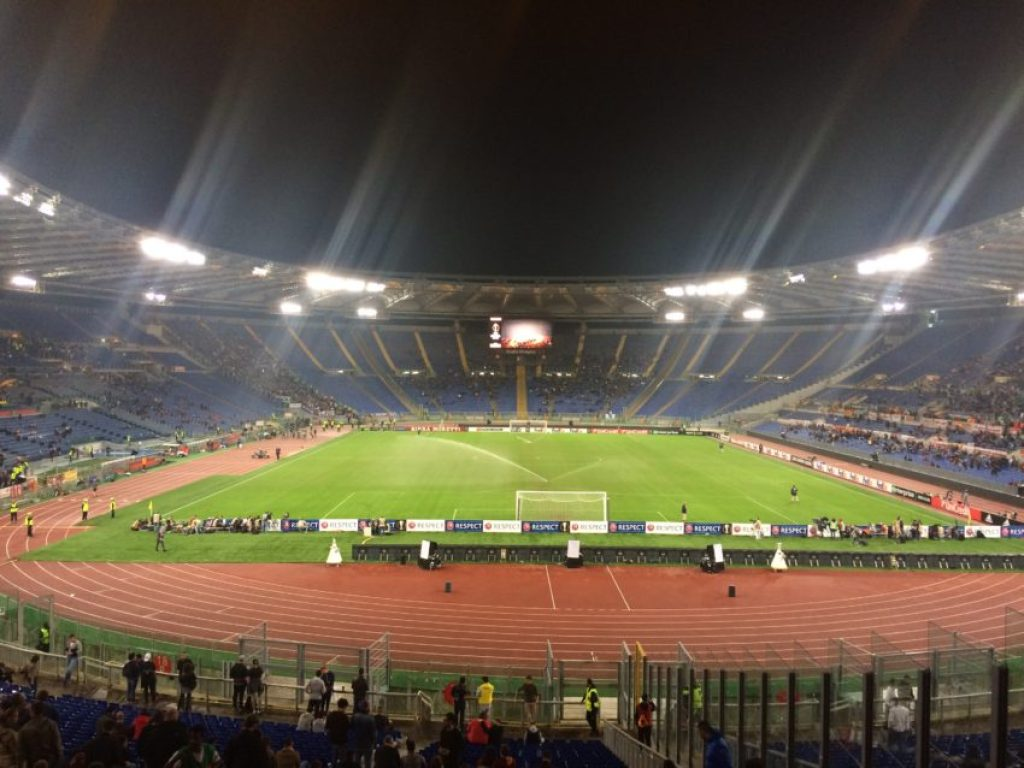 The 16,478 crowd for Roma-Austria Vienna.