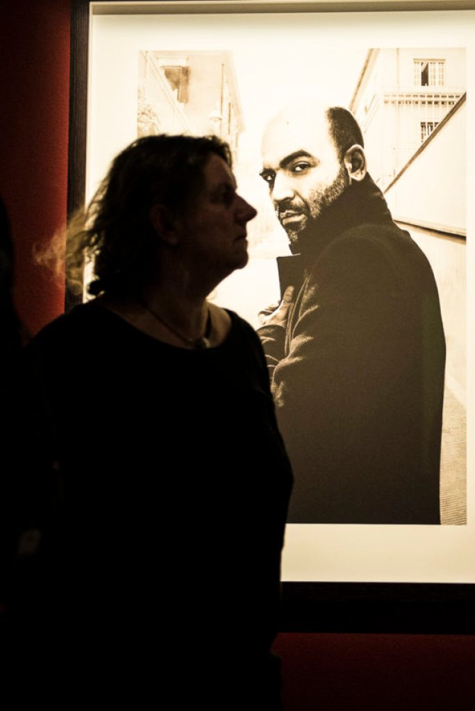 """Fotografiska features photos of some of the world's great human rights activists and writers, including Italy's Roberto Saviano (""""Gomorrah""""). Photo by Marina Pascucci"""