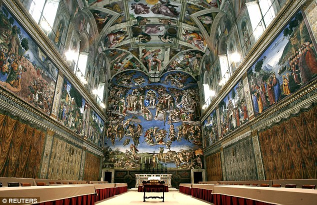 It took him 4 1/2 years to paint the ceiling of the Sistine Chapel.