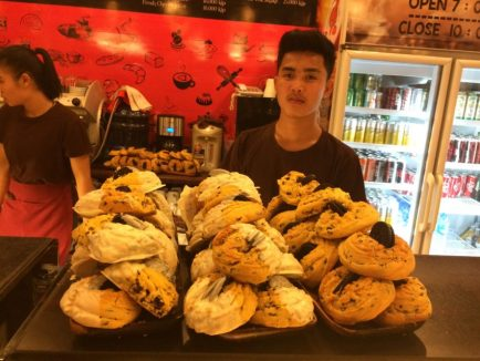 The Luang Prabang Bakery is one of the many French-influenced bakeries in Vang Vieng.
