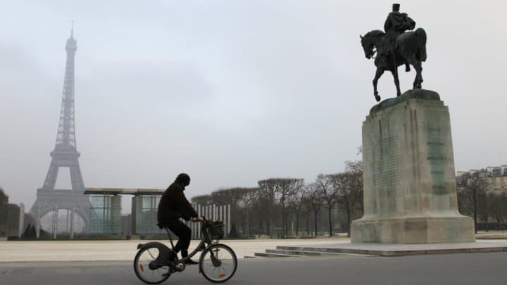 Cycling is a major mode of transportation in Paris. AFP photo