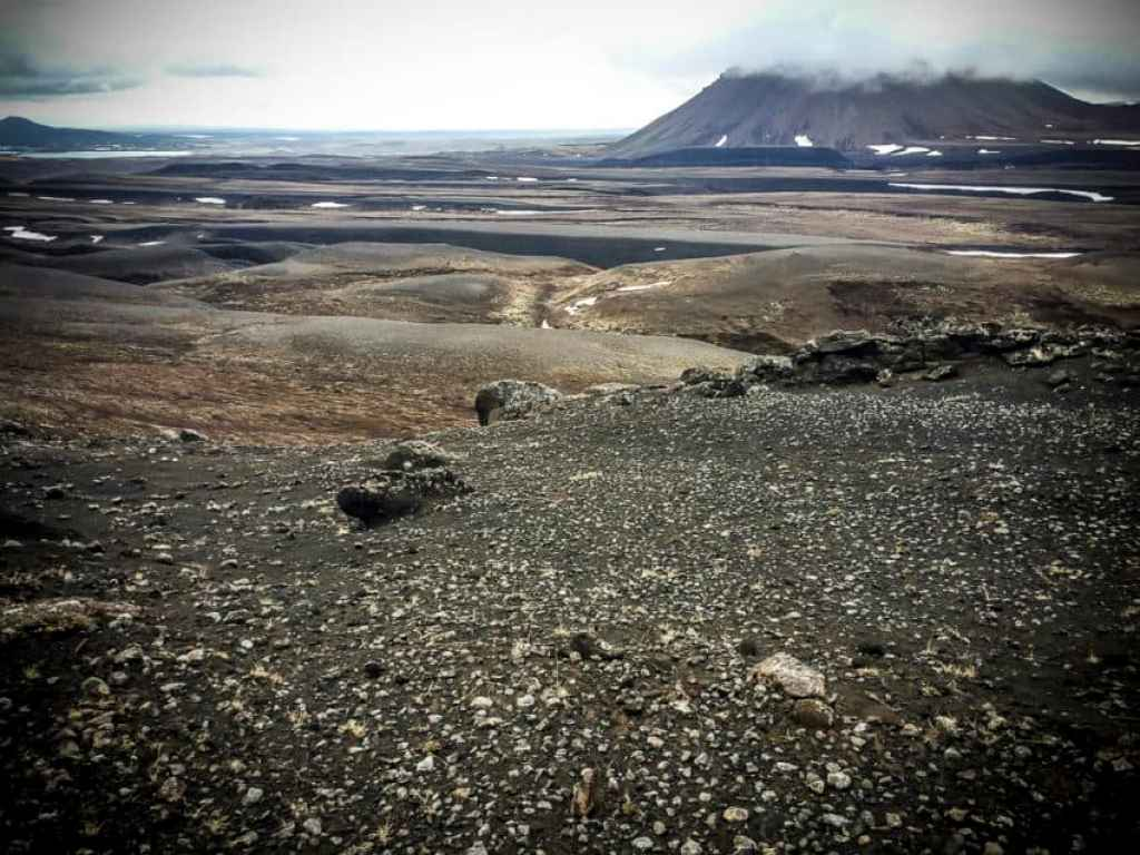 My hiking trail with Hverfjall in the background.