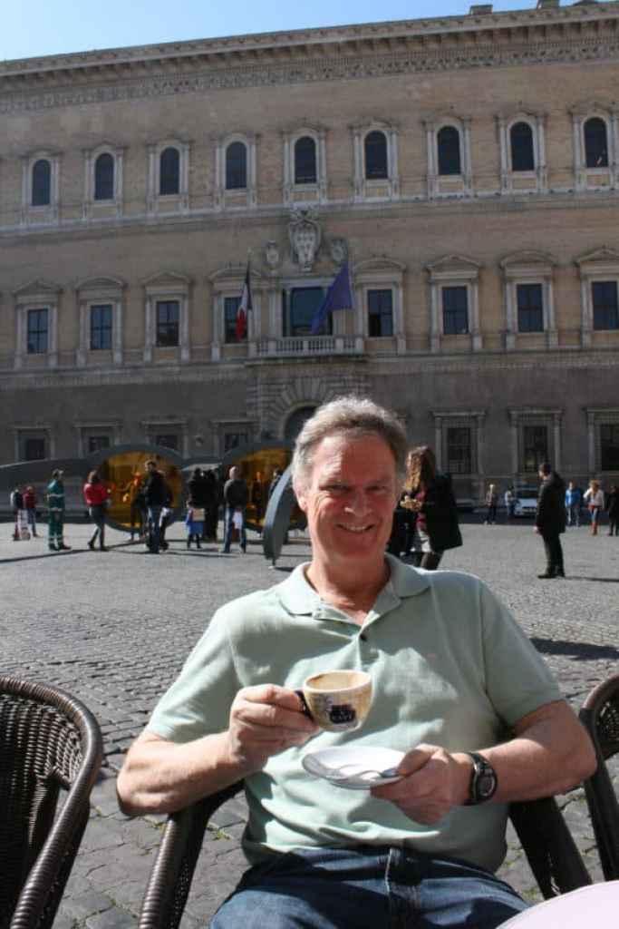 Me in Piazza Farnese.