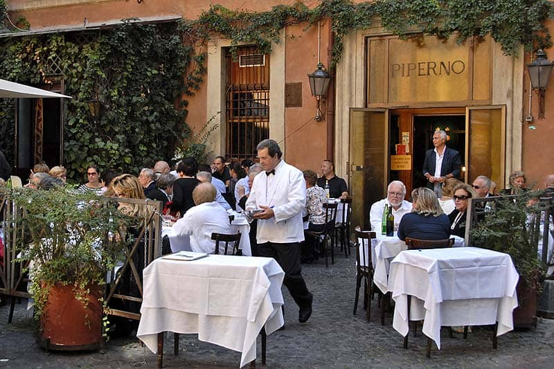 Rome is a restaurant town, not a bar town.