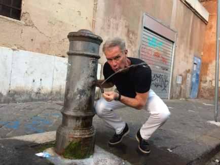 Me at a Roman cistern. Photo by Marina Pascucci