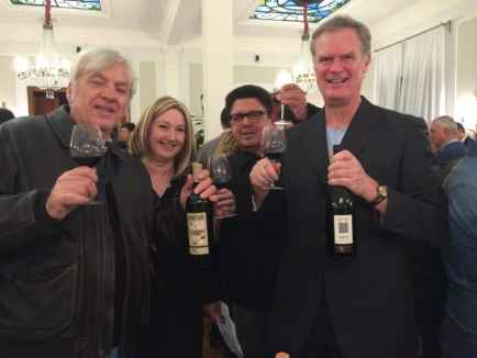 Me and friends at a Puglia wine tasting.