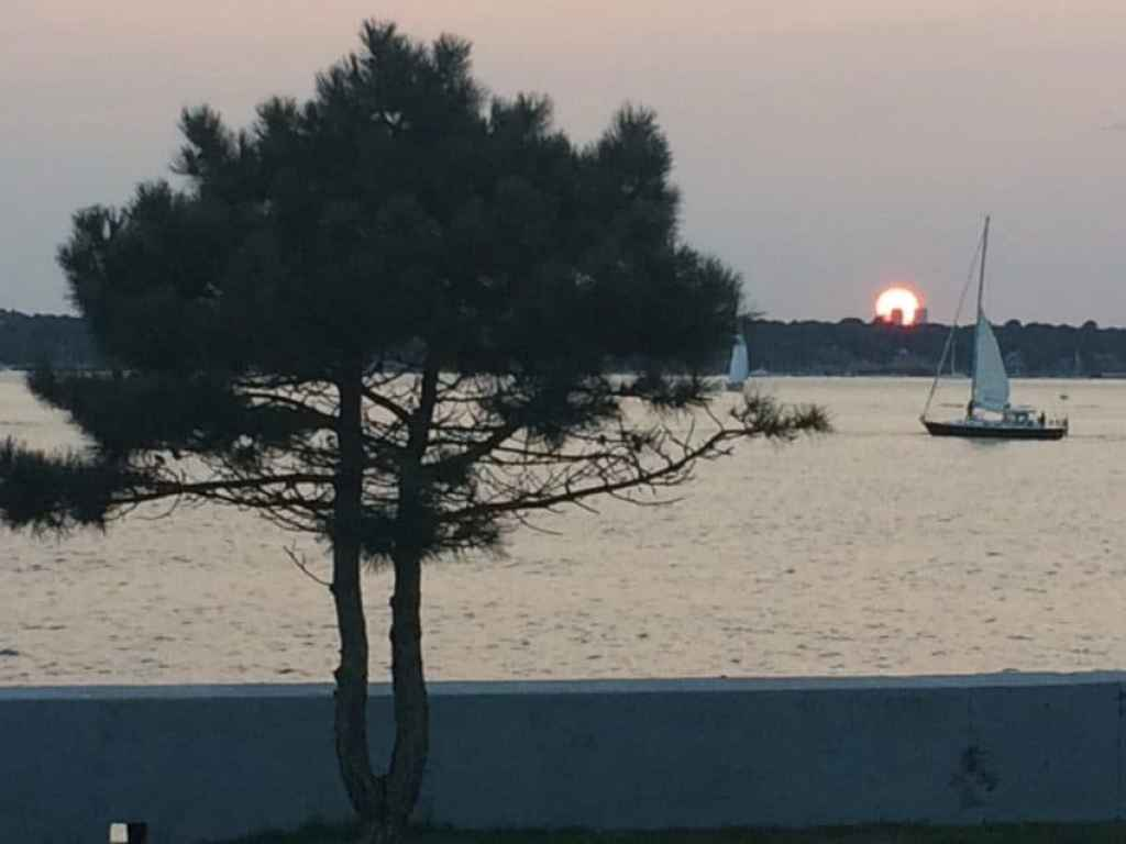 Sunset from the gazebo.