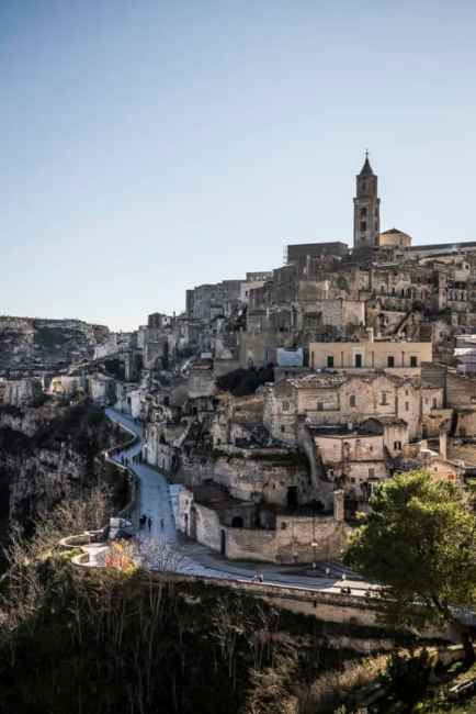 Matera has only one road that snakes through the Sassi. Photo by Marina Pascucci