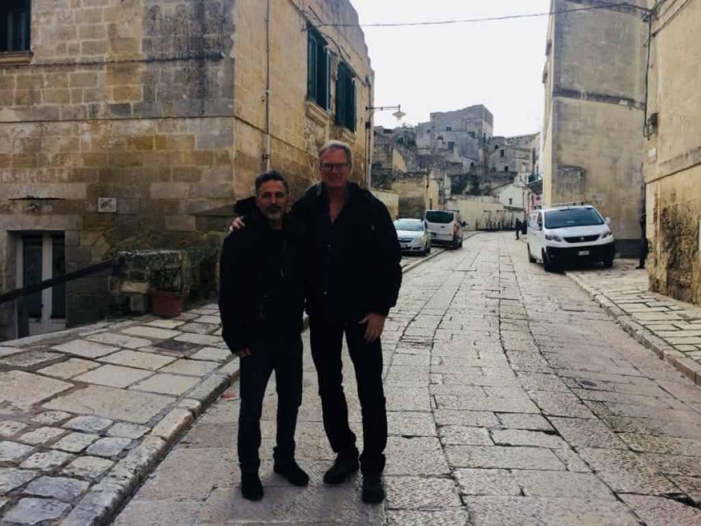 Vincenzo Altieri, left, and me. Photo by Marina Pascucci