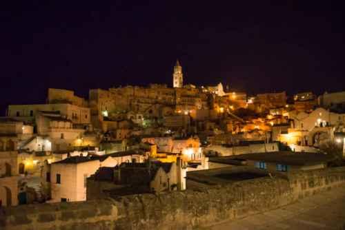 Matera's cathedral at night. Photo by Marina Pascucci