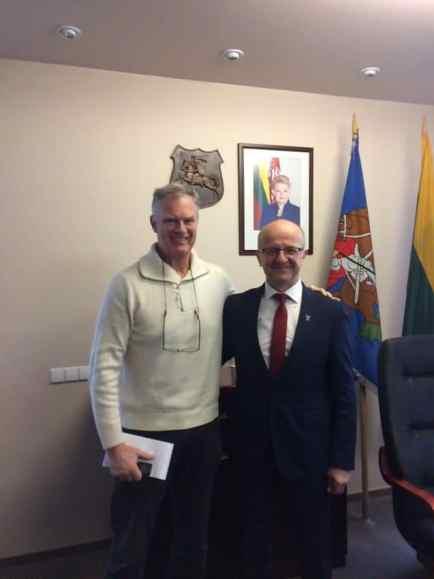 Me and Prienai mayor Alvydas Vaicekauskas