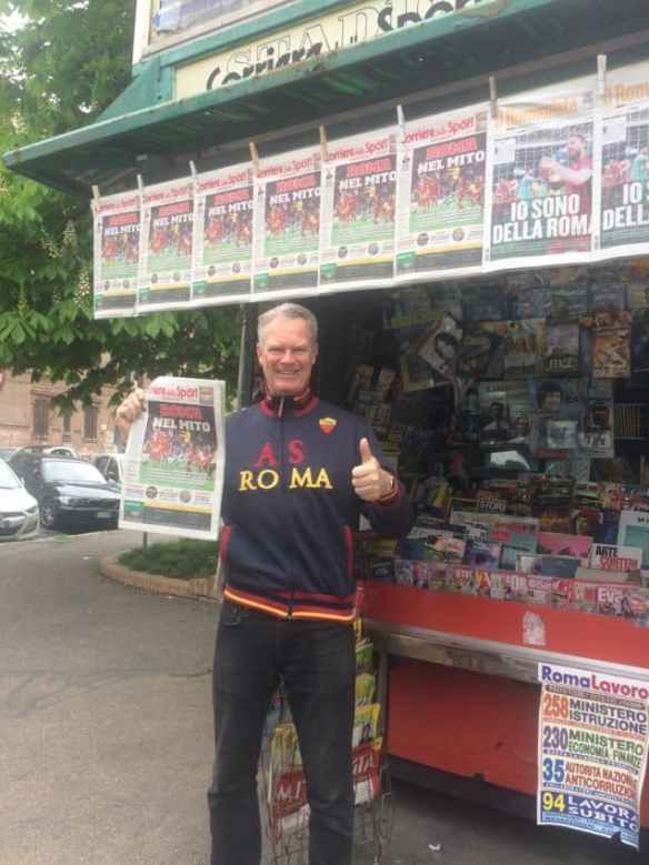 With Wednesday's Il Corriere dello Sport at  my local newsstand.
