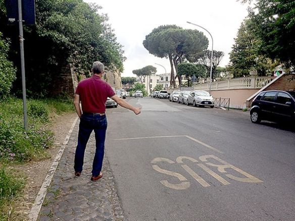 My new approach to Rome's public transportation problems. Photo by Marina Pascucci