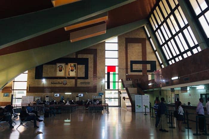 Abu Dhabi bus station.
