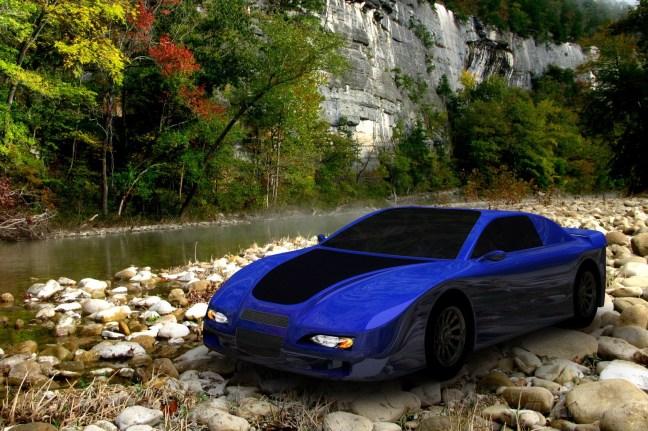3D digital car composited into image