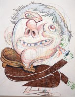 """Friar with Knife"", Pencil on Paper, 2008"